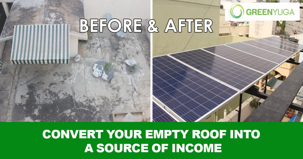 Convert your empty roof into source of income