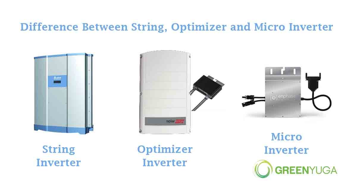 Difference between String, Optimizer and Micro Inverter Technology